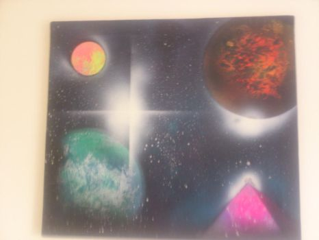 This is a spray painting. I did on a canvas by willman95