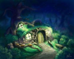 The Forest house by Elyon-freya