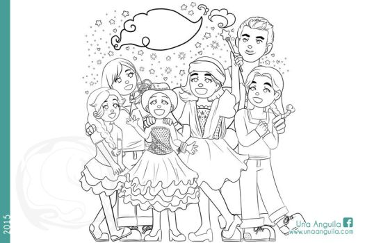 Commission 2015 Family and Fairy Godmother by electra-gretchen