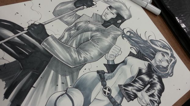 commission rogue gambit xmen copics by Sajad126