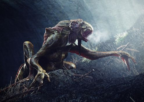 Sewer Dwelling Monster by loden