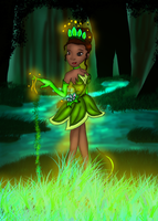 Princess Tiana: Element Earth by Birdhousebirdy