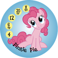 Button Ponies Pinkie Pie Game Button by Loaded--Dice