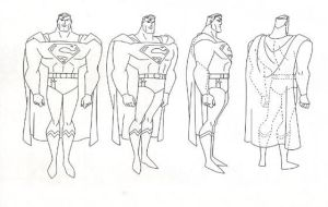 Superman JLA model Sheet by Nes44Nes