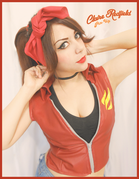Claire Redfield Pin-Up style by VickyxRedfield