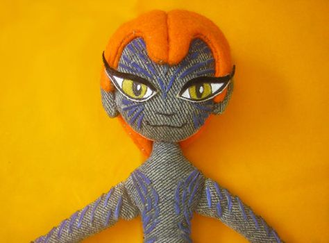 X-men's Mystique face close-up by catsewing
