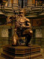 Riddick sculpture on set by danielsyzygy