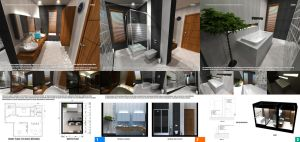 Bathroom Design Competition Sheets by omerty