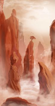 Landscape Quick Sketch by RicoCilliers