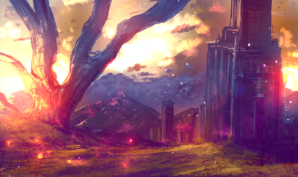 Epic Sunrise (auction OPEN) by ryky