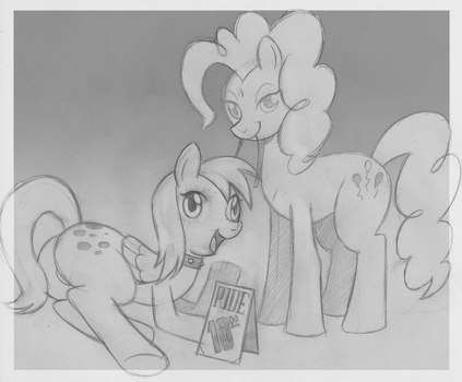 Derpy and Pinkie Pie by 60W by DanOblong