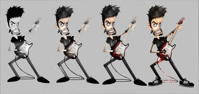 Rock Character Evolution by etraud