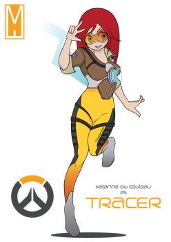Overwatch x League of Legends: Katarina 'Tracer' by TOPCAT91