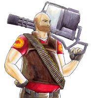 Heavy Weapons Guy by kytri