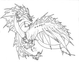 ocean dragon coloring pages-#23