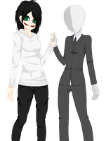 Panjera and sLenderman. by sirensLantern
