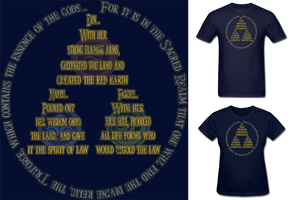 LOZ 3 Goddesses of the Triforce Shirt by Enlightenup23