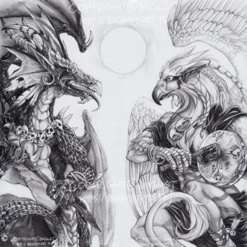 Two Shamans by AugustAnna