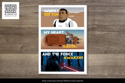 Star Wars - The Force Awakens Card by JonathanRudolph