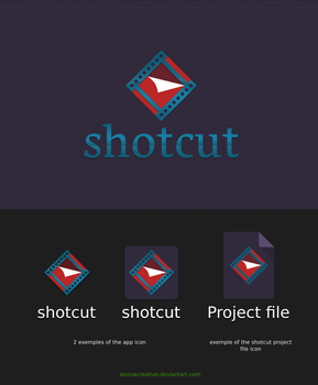 proposal Shotcut logo by alezzacreative