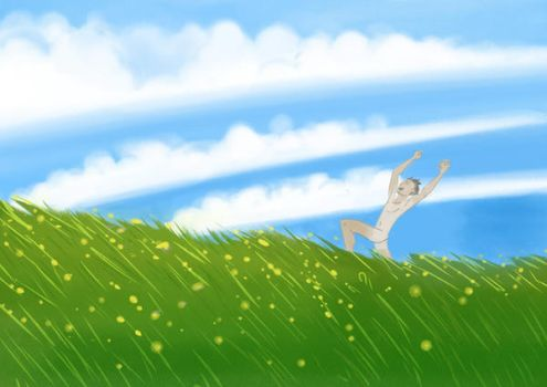 Running Naked in a Field by litterbugger
