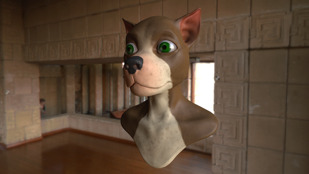 Anthro dog wip by FredrikH