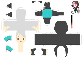 Halloween Prussia Papercraft by KimiMonsterKitty