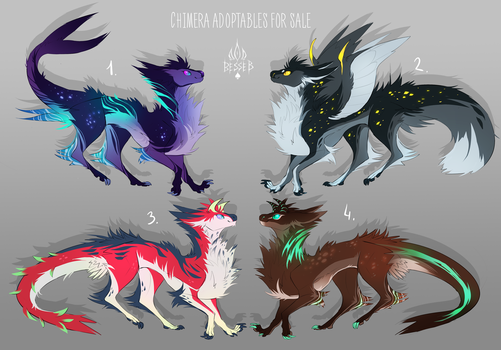 Chimera adoptables AUCTION [closed] by BeSSeB
