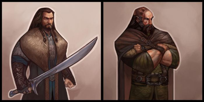 Style experiment with some dwarves :B by juliedillon