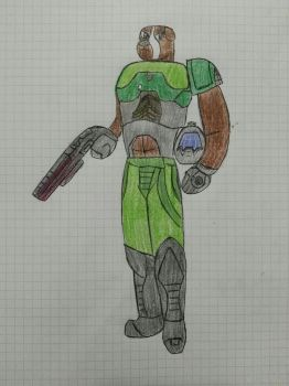 Request  for CliveStation - Captain Robert/Doomguy by Smashfanful