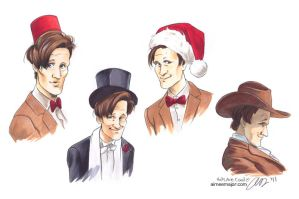 Hats Are Cool. 11th Doctor Who by aimeekitty