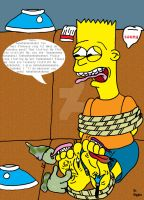 Bart Simpson Foot Tickled by Brains-brains
