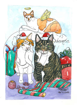 Merry Catmas! by Majestic922