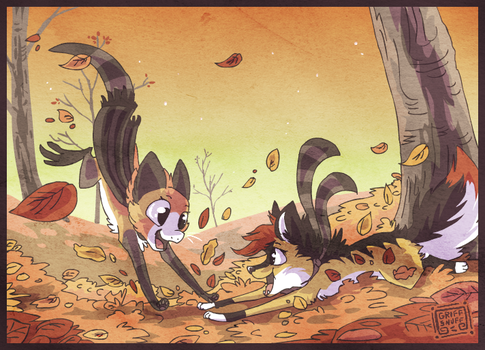 Leaves are fun by griffsnuff