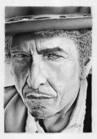 Pencil Drawing Bob Dylan by GraphiteFaces