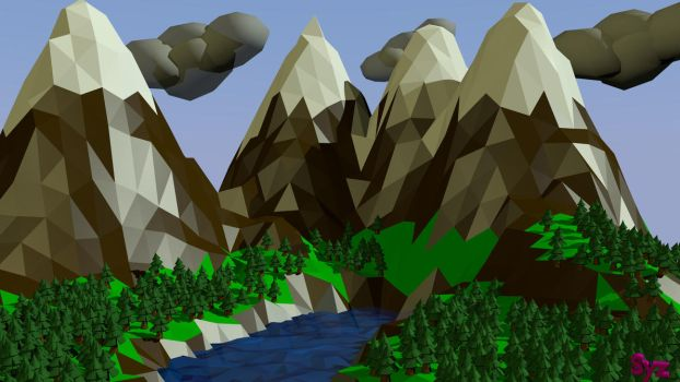 Low Poly Landscape by Eon-Syzygy