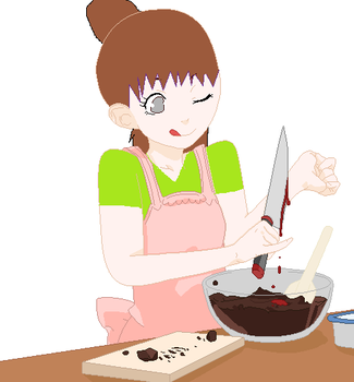 Adrianna's making a cake for Hidan by Anime-Master1
