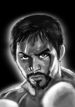 manny pacquiao pacman rough sketch by buttdriller