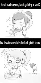 Different reactions by nicoruXD