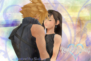 Cloud and Tifa hug by sukeyfpt