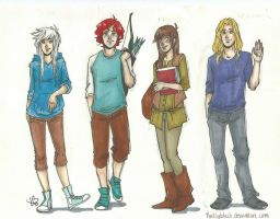 The big four modern genderbent by LilyScribbles