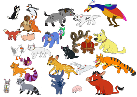 A Rainbow of Animated Movie Characters (Part 2) by ...