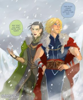 Asgardians on a mission by Noiry