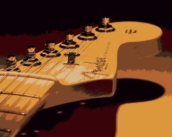 Fender Stratocaster Paint By Number Art Kit by numberedart