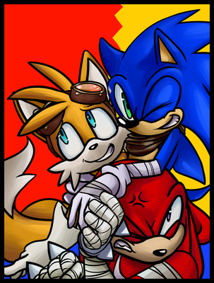 Sonic BOOM - Can't Stop Redraw by KingofMoebius