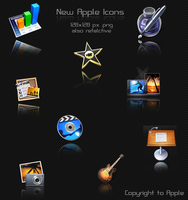 New Apple Icons Reflective by l4mb3r7