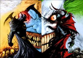 Spawn VS Batman 3 by wankerdeath