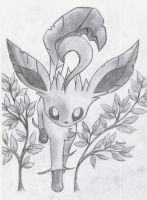 Leafeon with Plants by Togechu