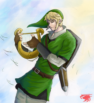 Link Harp by BloodThirstyfang