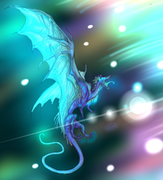 Midnight Frost Dragon (Fancy Version) by RoomsInTheWalls